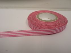 Barbie Pink pencil stripe ribbon 2 metres or full roll (25 metres) 5mm 10mm double sided